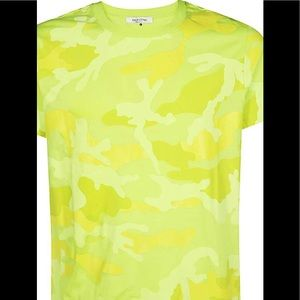 Valentino Mens SV3MG00W3MB T-shirt - Yellow Size L